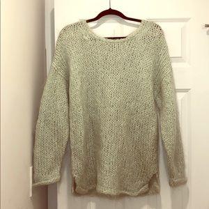 Madewell Mint Green Fuzzy Knit Sweater sz S